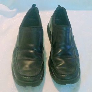 Men's COLE HAAN Black Leather Slip On Air Sole